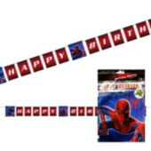 Spiderman Birthday Banner Decoration