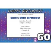 60 Happy Birthday  Personalized Invitations