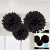 Black Fluffy Decorations-3 Pack