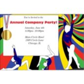 Gymnastics Gold Personalized Invitations