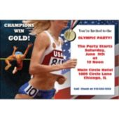 Running For Gold Personalized Invitations