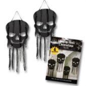 Black Skull Hanging Decorations-4 Pack