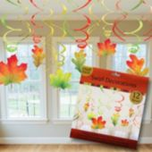 Fall Leaves Swirl Decorations-12 Pack