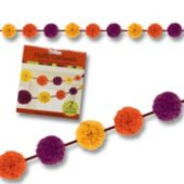 Fall Colors Fluffy Garland-2 Pack