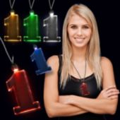 White LED and Light-Up Pendant Necklaces