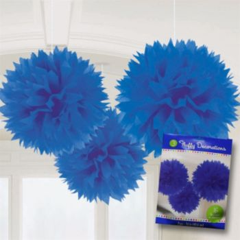 Royal Blue  Fluffy Decorations