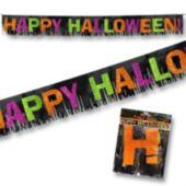 Happy Halloween Fringed Banner