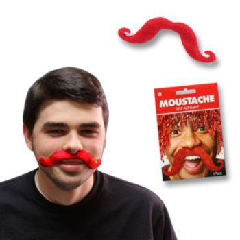 Red Handlebar Mustache