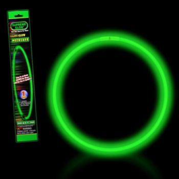 Green 22'' Retail Pack Glow Necklace