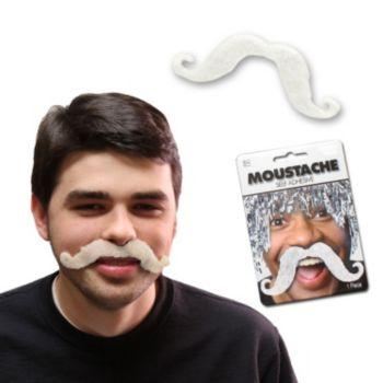 White Handlebar Mustache