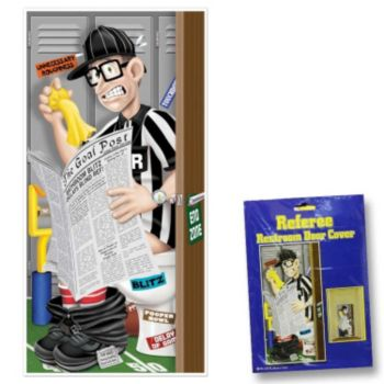 Football Referee  Restroom Door Cover