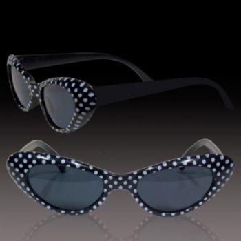 Black Polka Dot Funky Sunglasses