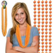 "Orange Plastic Bead Necklaces-33""-12 Pack"