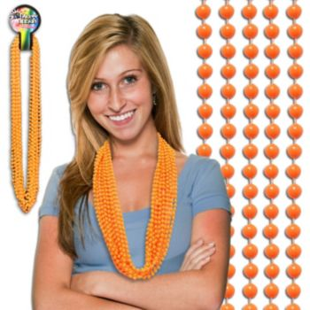 "Orange Beads  7mm 33"""