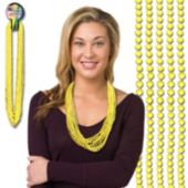 "Yellow Bead Necklaces-33""-12 pack"
