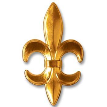 Fleur De Lis Gold  Plastic Decoration