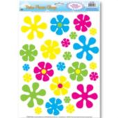 Retro Flower Window Clings - 24 Per Sheet