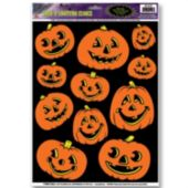 Jack-O-Lantern Window Cling Decorations