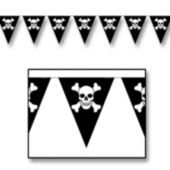Skull & Crossbones Pennant Banner Decoration