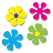 Flower Power Cutouts-4 Per Unit
