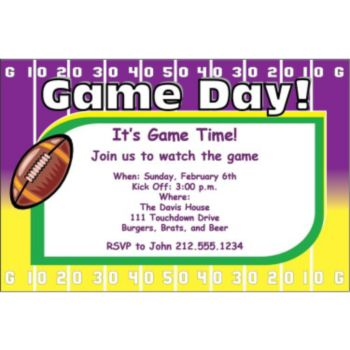 Super Sunday Yardline Personalized Invitations