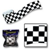 Black & White Checkered Streamer Roll