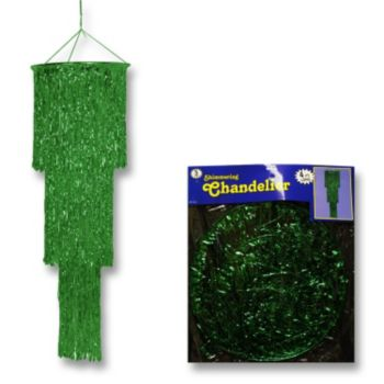 Green Fringed Chandelier