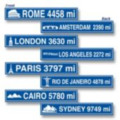 International City Sign Cutouts-4 Pack