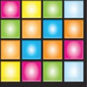 Disco Lunch Napkins - 16 Pack