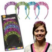 Glitter Star Multi Color Headbands - Unit of 12