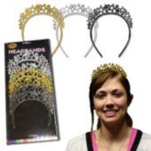 Glitter Star Headbands - 12 Per Unit