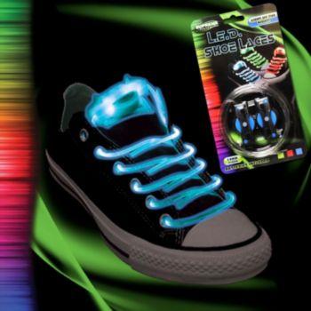 Flashing Blue LED Shoe Laces