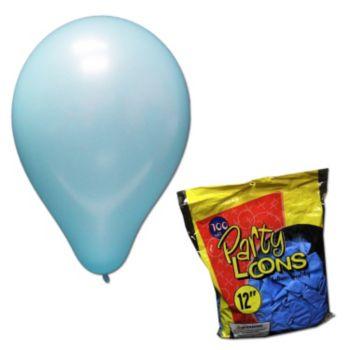 Light Blue Latex Balloons - 12 Inch, 100 Pack