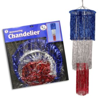 Red, Silver & Blue Chandelier