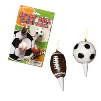Sports Ball  Cake Candles