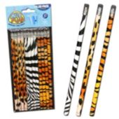 Animal Print Pencils - 12 Pack