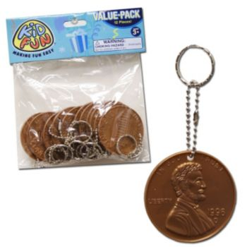 Giant Penny Keychains