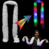 Multi-Color LED White Scarf