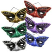 Butterfly Glitter Masks - 12 Pack