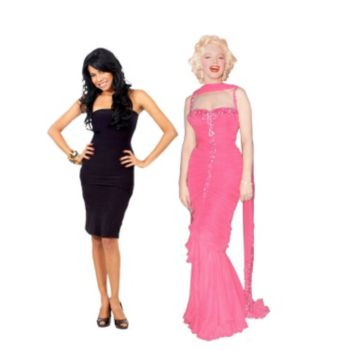 Marilyn Monroe  Pink Dress Stand Up