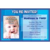 Blue Photo Personalized Invitations