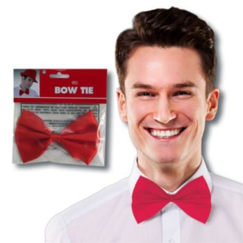 Red Satin Bowtie