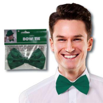 Green Satin Bowtie