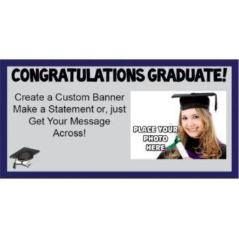 Graduate Congratulations Custom Photo Banner