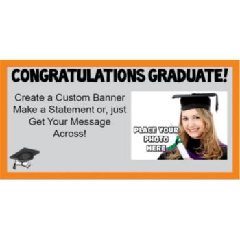 Graduation with photo Orange