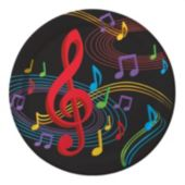 "Musical Memories 8 3/4"" Plates - 8 Pack"