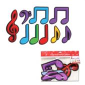 Colorful Music Note Cutouts-9 Pack
