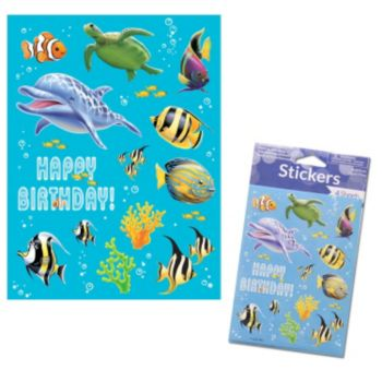 Under the Sea  Birthday Stickers