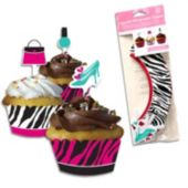 Glamour & Glitz Zebra Cupcake Wrappers - 12 Pack