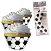 Soccer Cupcake Wrappers - 12 Pack